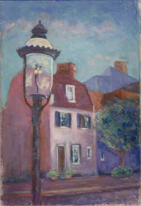 Pink House Lamplight
